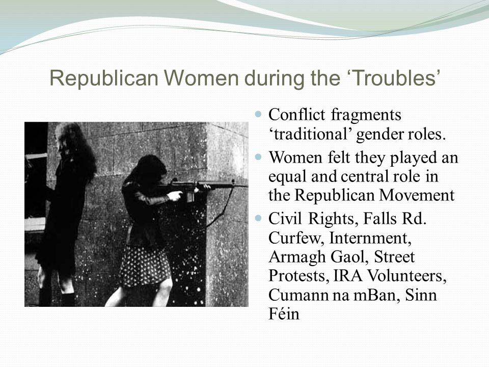 Findings & Analysis All interviewees are politically active today Full time activists across formal and informal politics Sinn Féin, Community Groups, Women's Groups, Conflict Victims Groups.