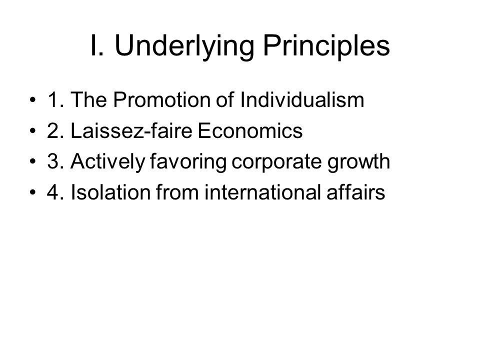 I.Underlying Principles 1. The Promotion of Individualism 2.