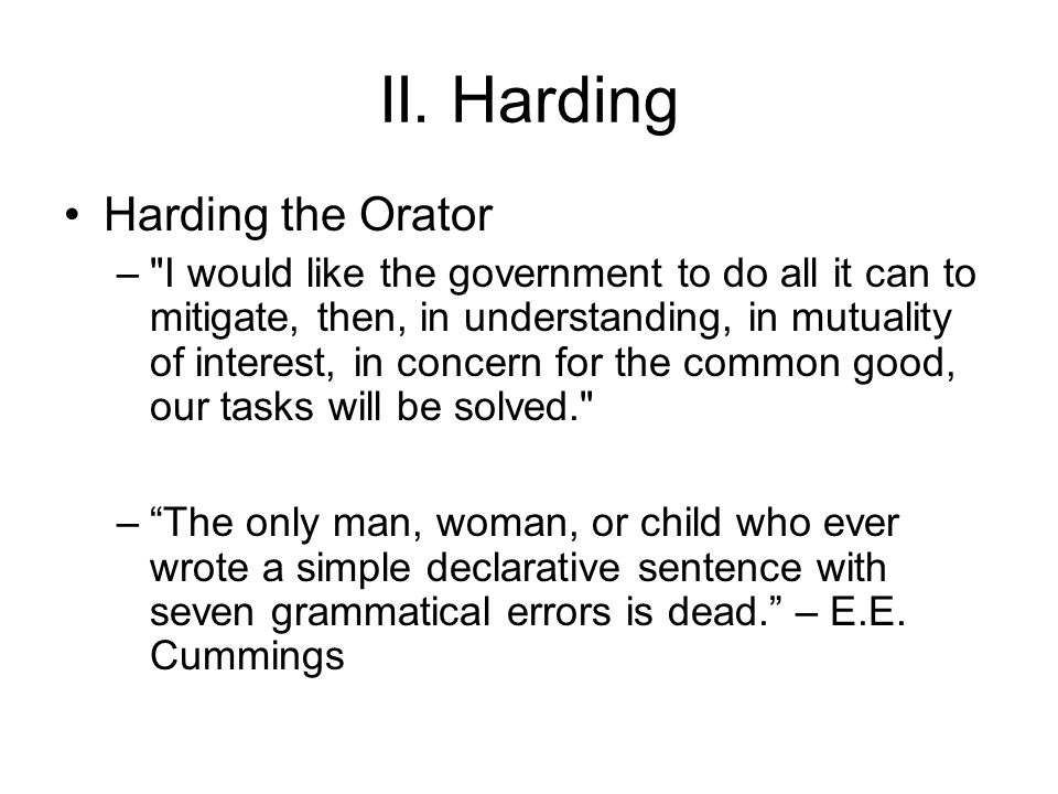 Harding the Orator –