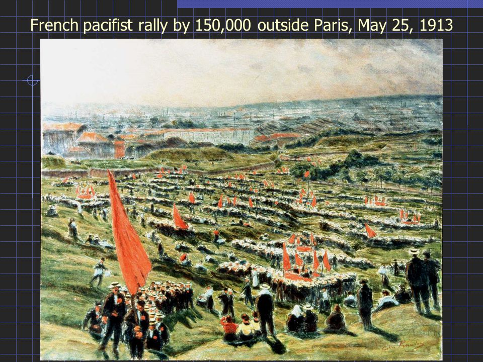 French pacifist rally by 150,000 outside Paris, May 25, 1913