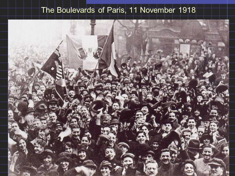 The Boulevards of Paris, 11 November 1918