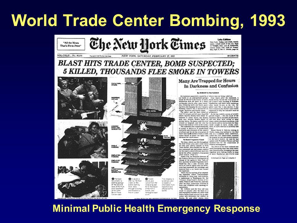 World Trade Center Bombing, 1993 Minimal Public Health Emergency Response