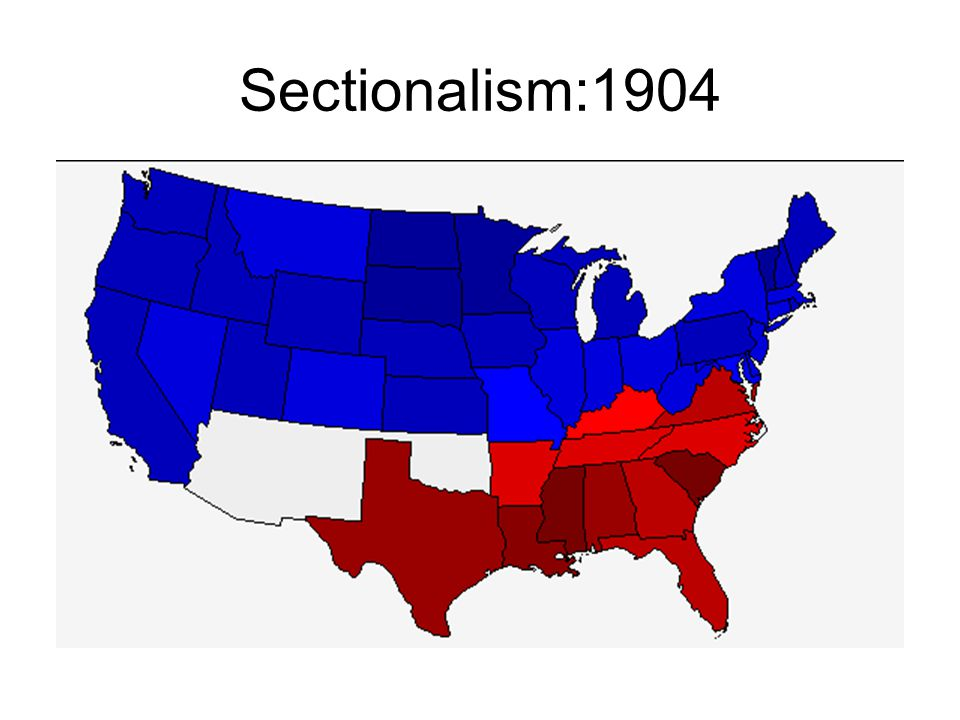 Sectionalism:1904