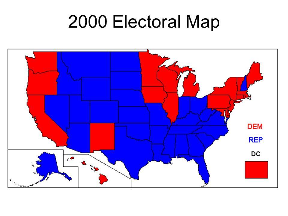 2000 Electoral Map