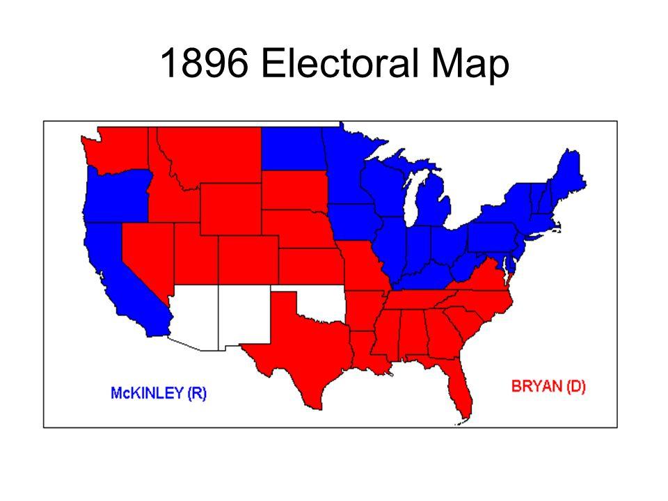 1896 Electoral Map