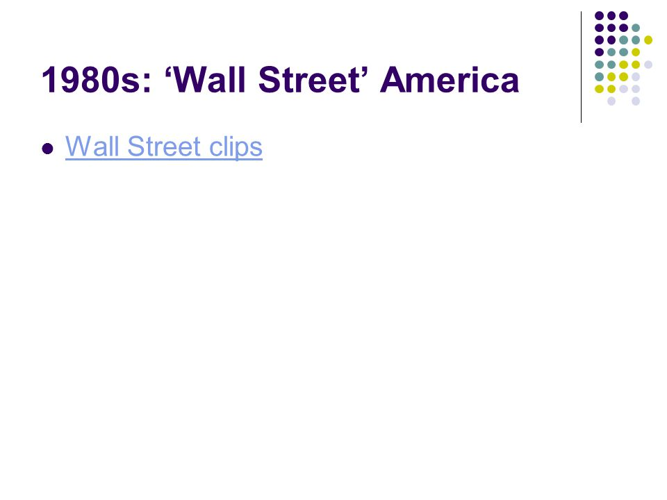 1980s: 'Wall Street' America Wall Street clips