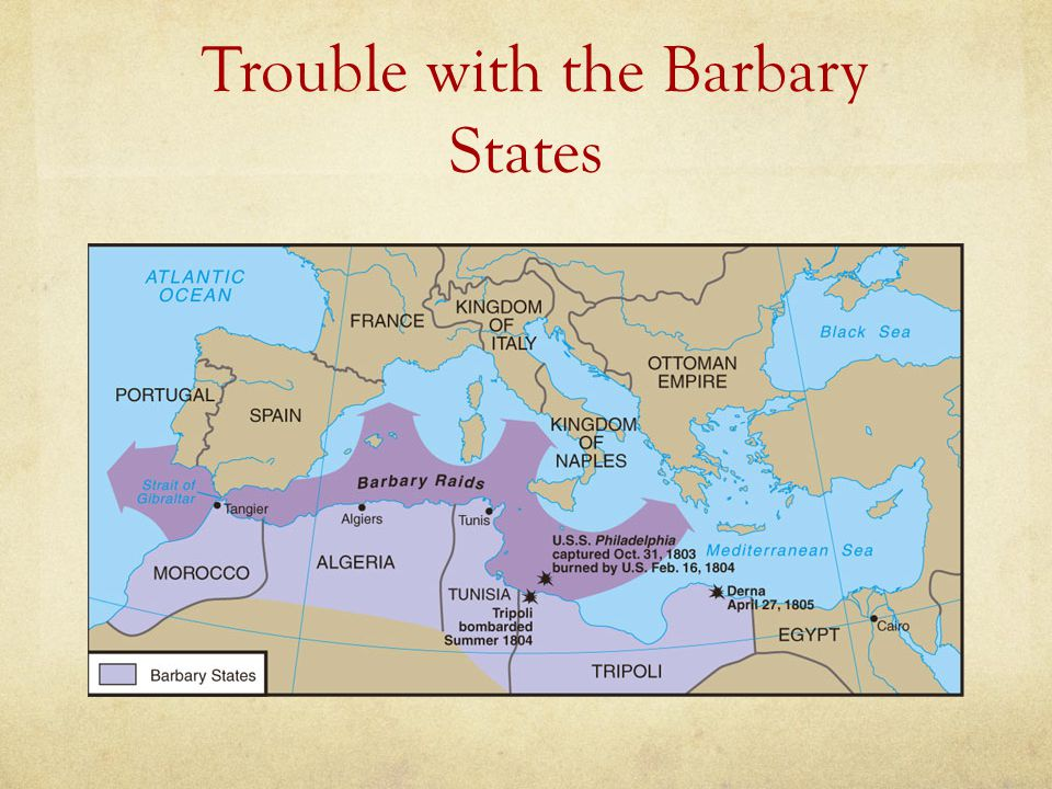 Trouble with the Barbary States