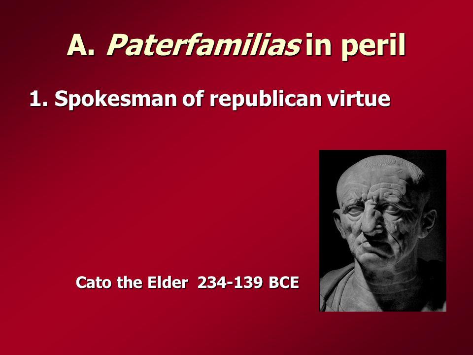 A. Paterfamilias in peril 1.