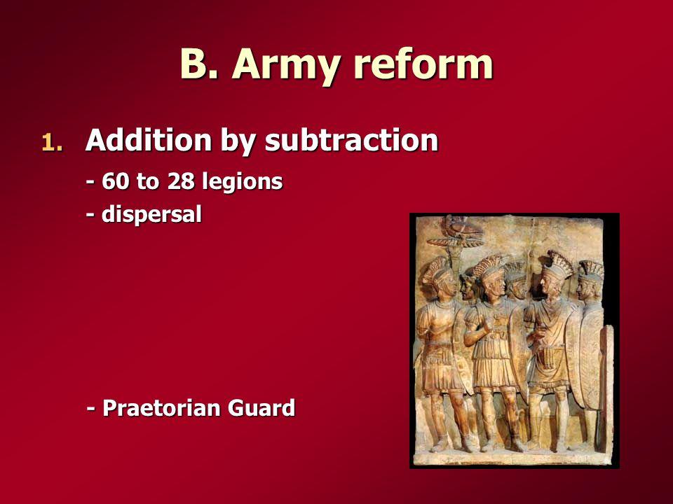 B. Army reform 1.