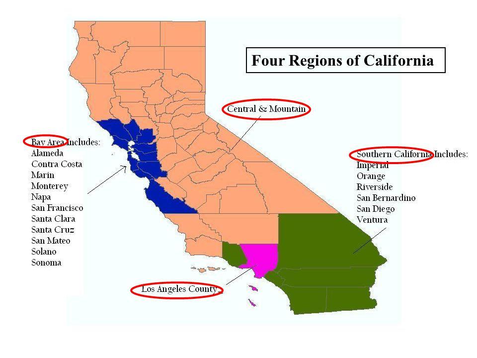 Four Regions of California