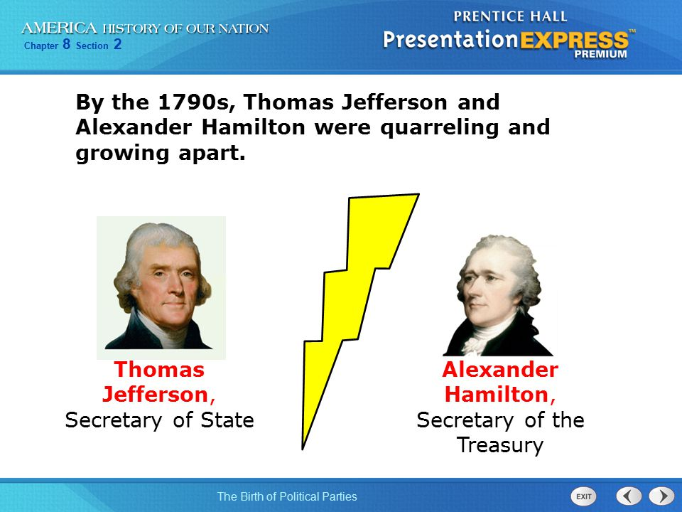 the importance of thomas jeffersons and alexander hamiltons imput to america