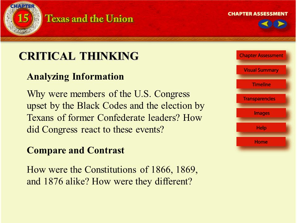 CRITICAL THINKING Analyzing Information Why were members of the U.S.