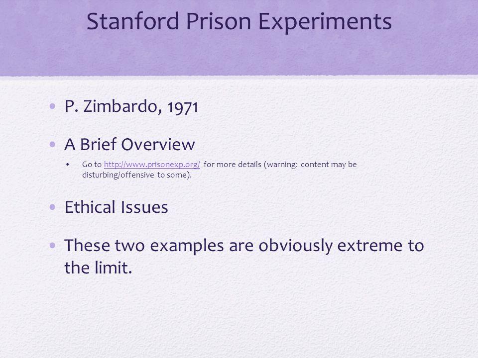 Stanford Prison Experiments P.