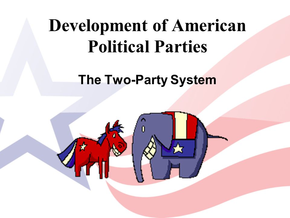 Development of American Political Parties The Two-Party System