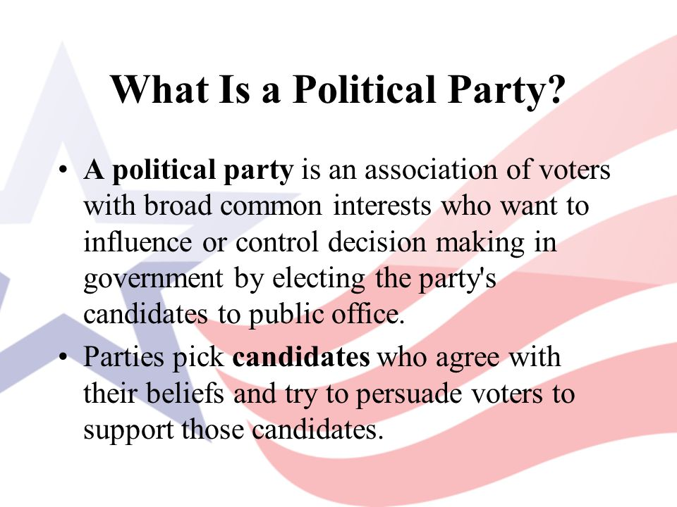 Following The Party Line In a one-party system, the government and party are nearly the same thing.