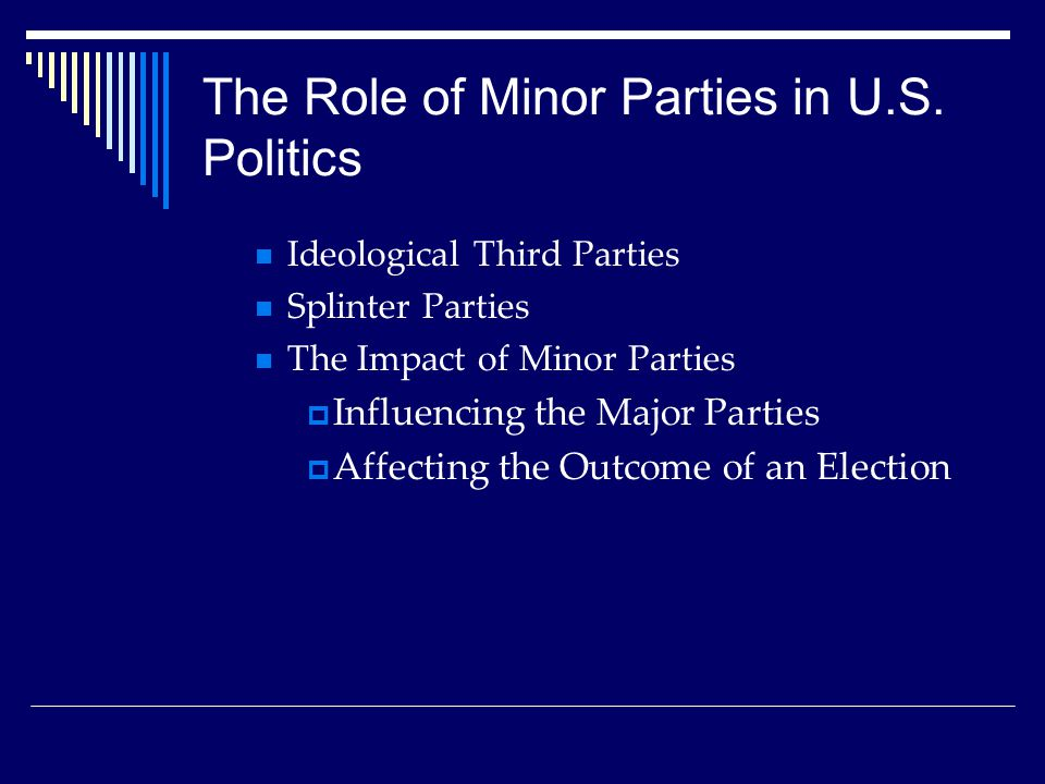 The Role of Minor Parties in U.S.