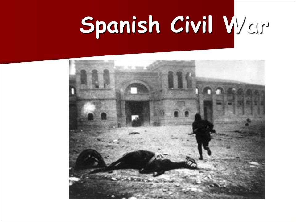 Nazi Germany's attitude Used Spanish war as testing ground for his air force Used Spanish war as testing ground for his air force Hitler was happy to see Italy tied up so he was free to act in Austria Hitler was happy to see Italy tied up so he was free to act in Austria