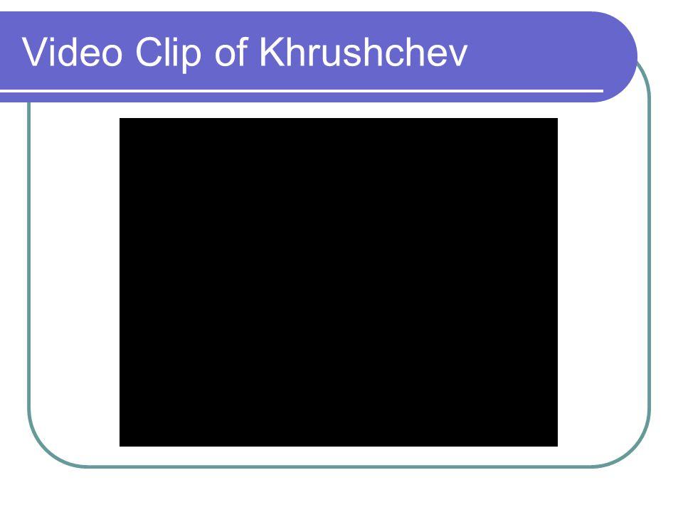 Video Clip of Khrushchev