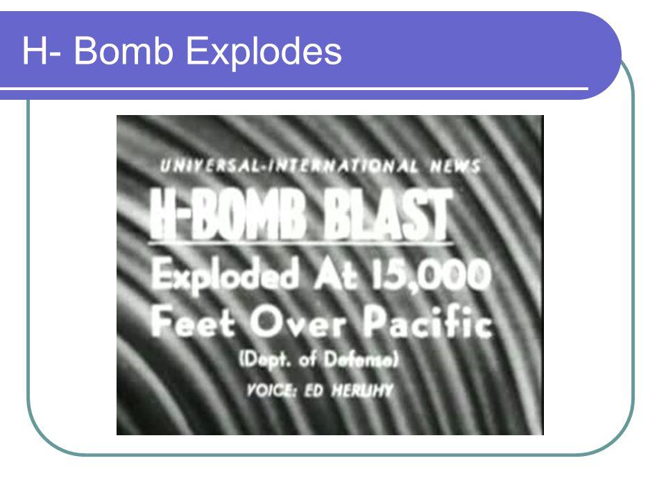 H- Bomb Explodes
