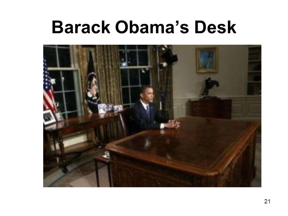 21 Barack Obama's Desk