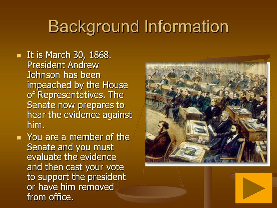 Background Information It is March 30, 1868.