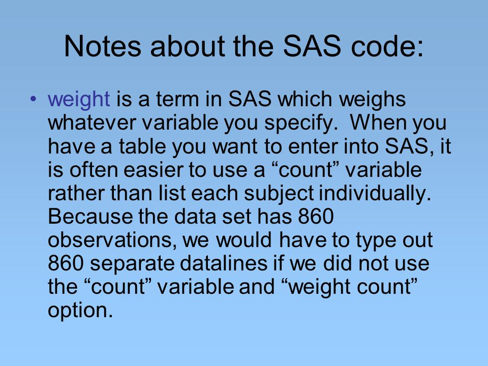 TABLES tells SAS to construct a table with the two specified variables (in this case, race and party).