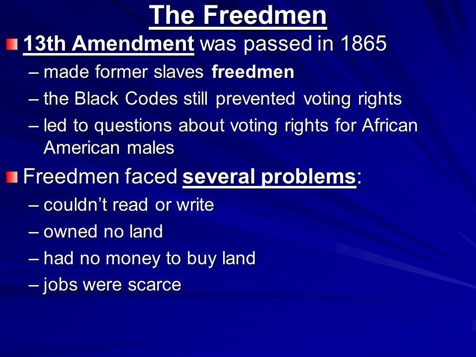 Freedman's Bureau Freedmen s Bureau- established in the War Department on March 3, 1865.