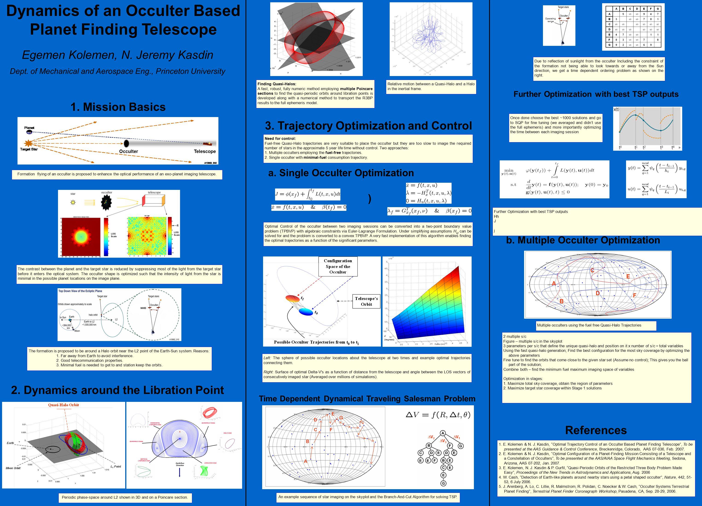 Dynamics of an Occulter Based Planet Finding Telescope Egemen Kolemen, N.