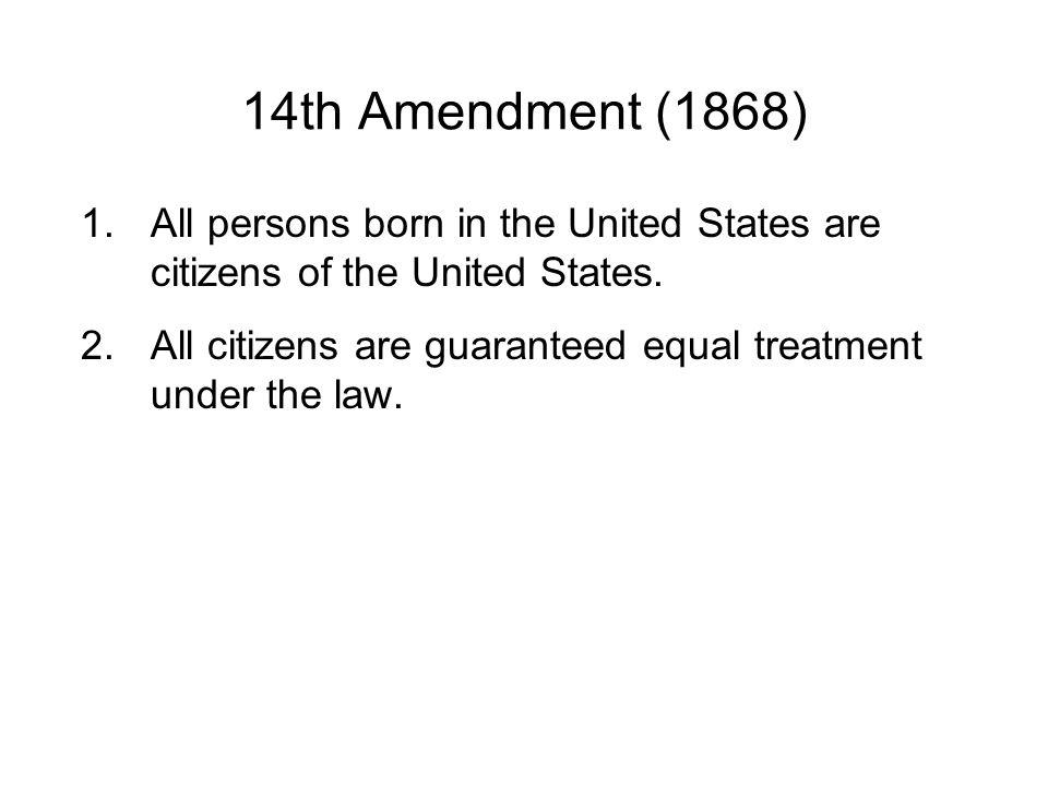 Prohibited Slavery 13th Amendment (1865)