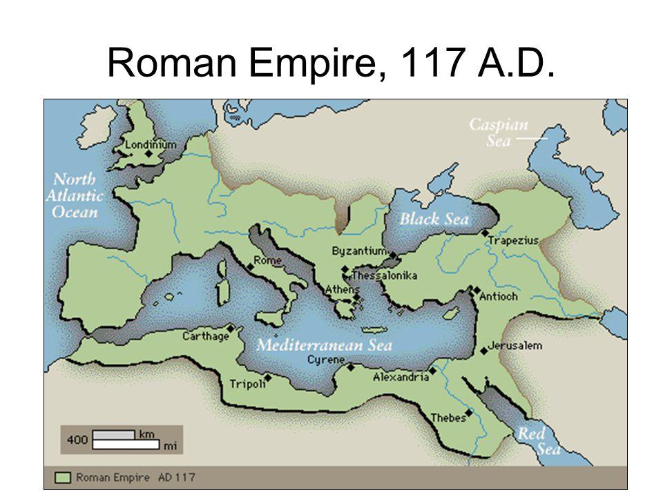 Roman Empire, 117 A.D.