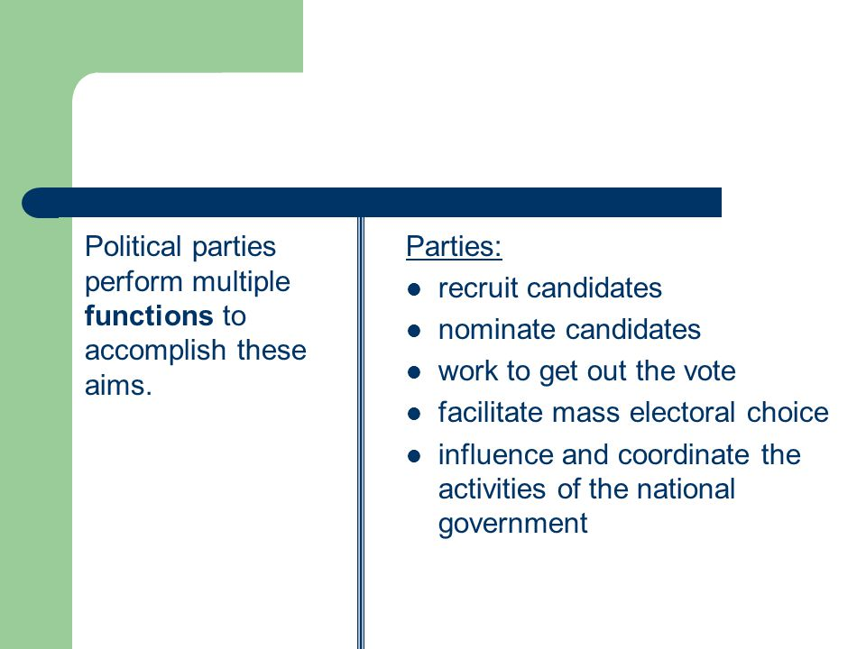 Party-in-government refers to the ability of parties to structure and control the government.