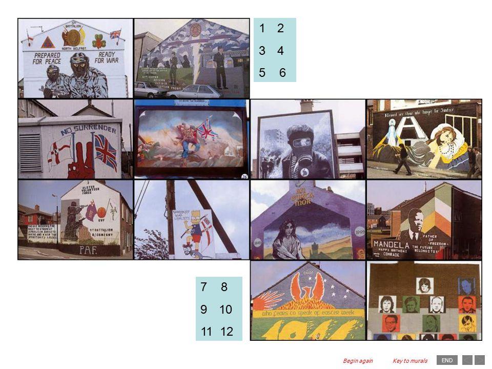 END 7 8 910 11 12 12 34 5 6 Key to muralsBegin again