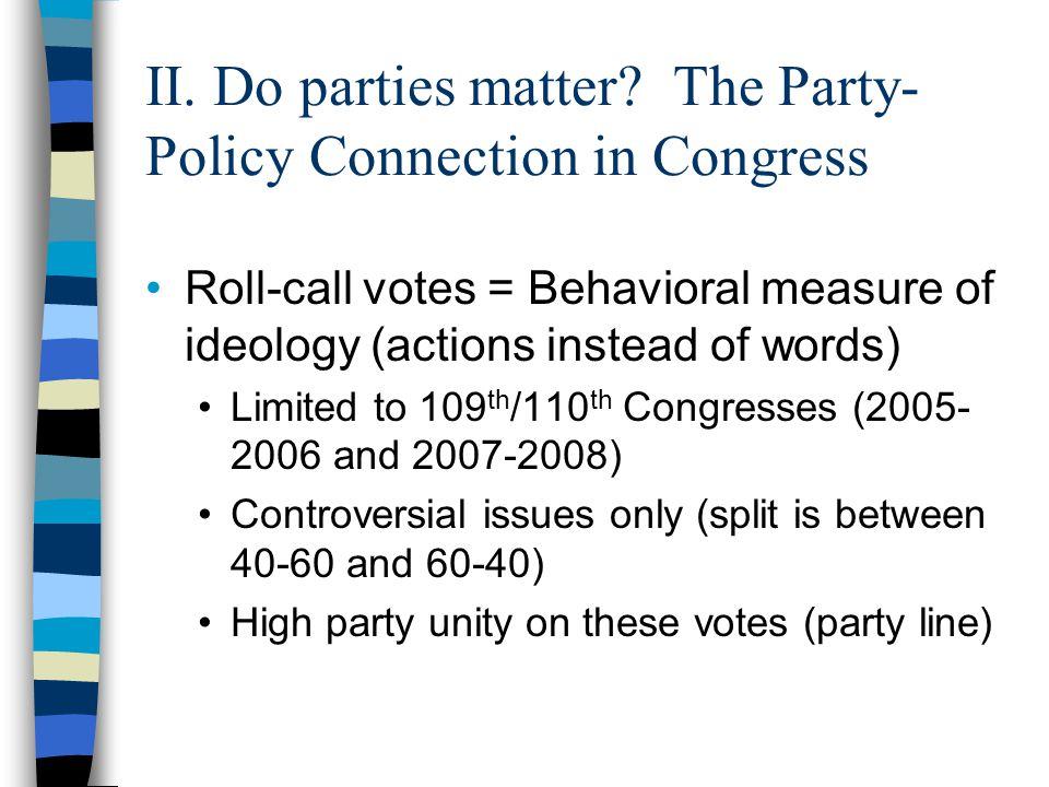 II. Do parties matter.