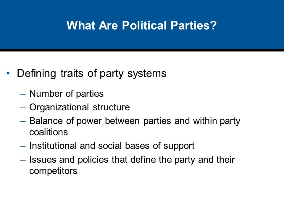 What Are Political Parties.
