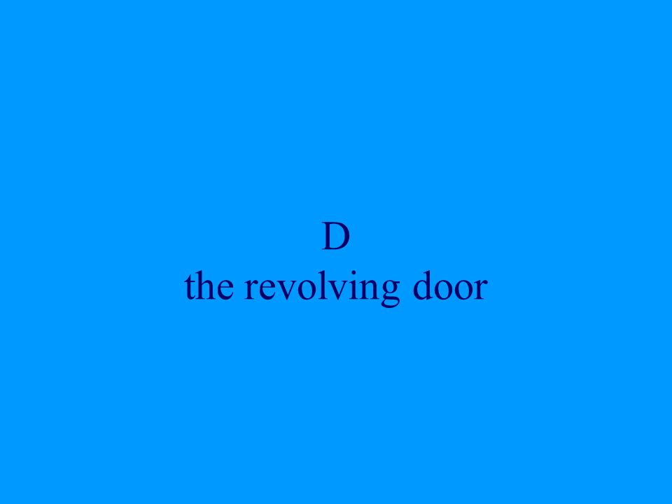 D the revolving door