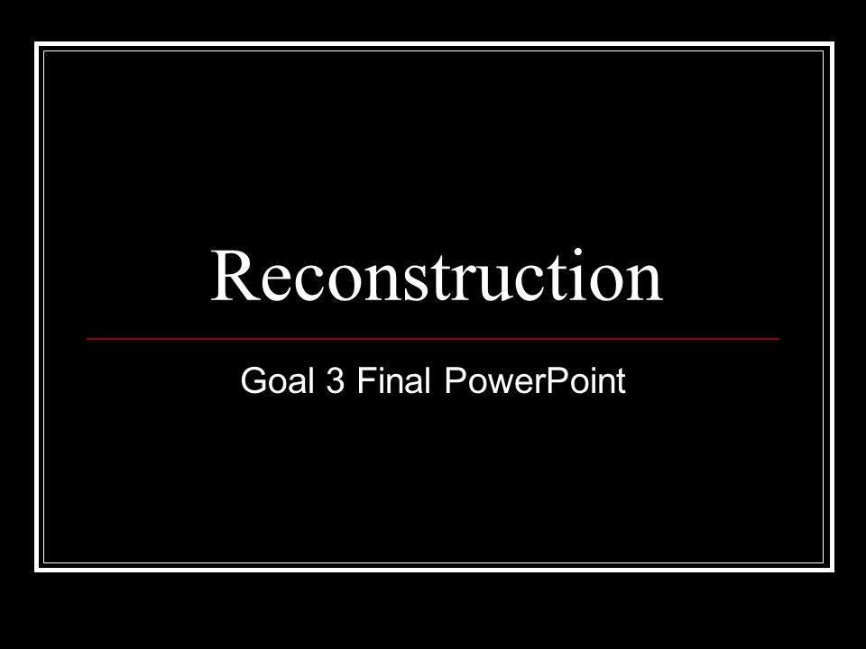Reconstruction Focus Questions 1.What group made up the majority of Southern Republicans.