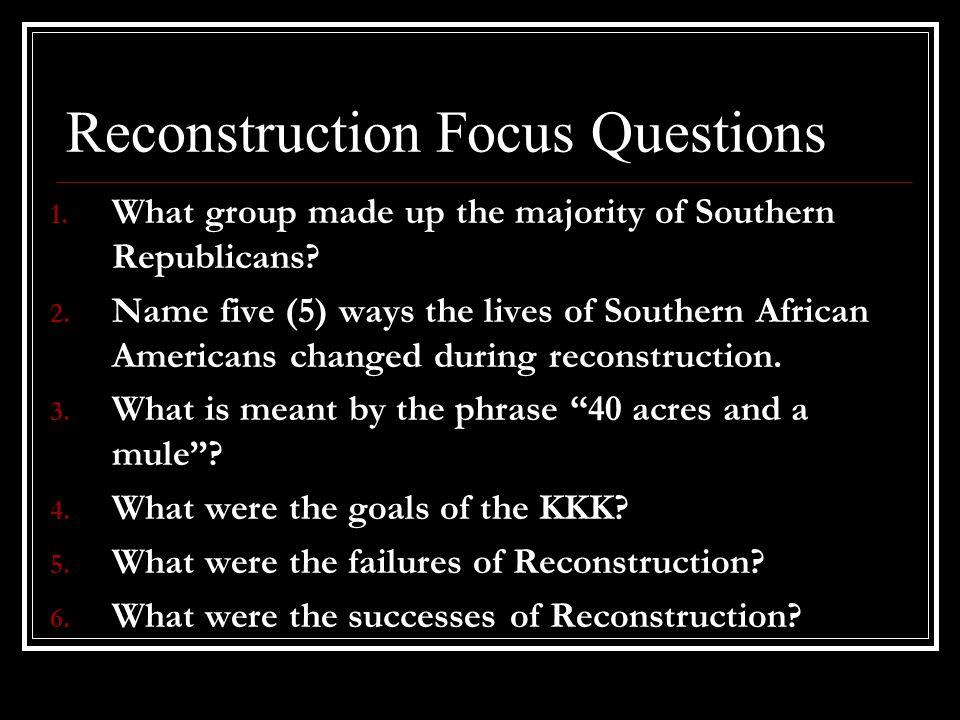 Important Vocabulary for Reconstruction 1.Thirteenth Amendment 2.