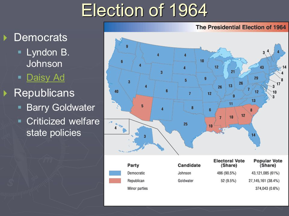 Election of 1964   Democrats   Lyndon B.