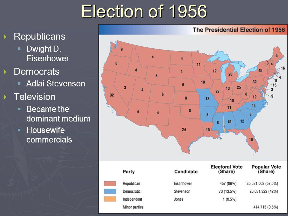 Election of 1960   Republicans   Richard Nixon   Democrats   John F.