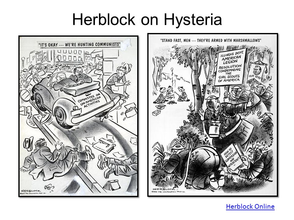 Herblock on Hysteria Herblock Online