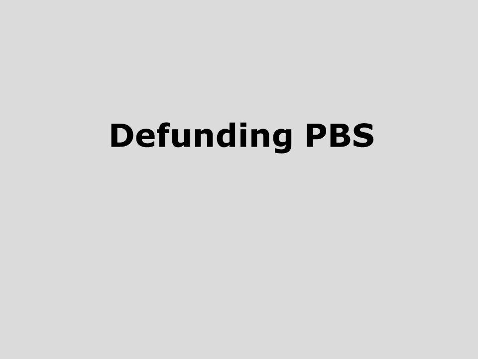 Defunding PBS