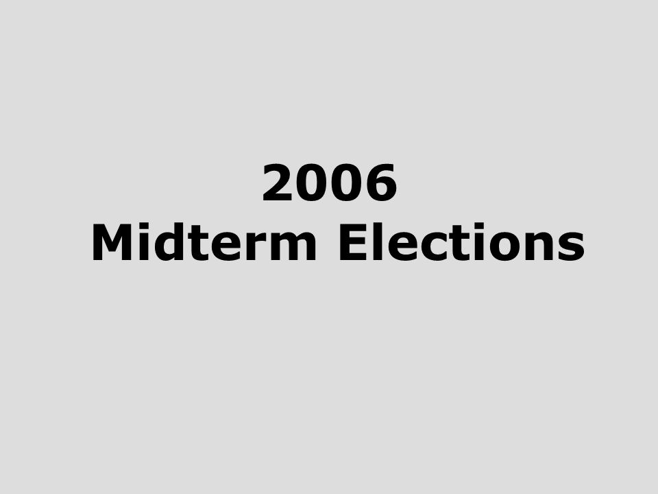 2006 Midterm Elections
