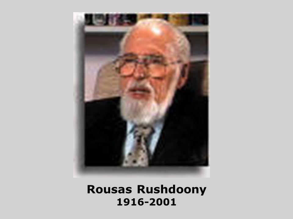 Rousas Rushdoony 1916-2001