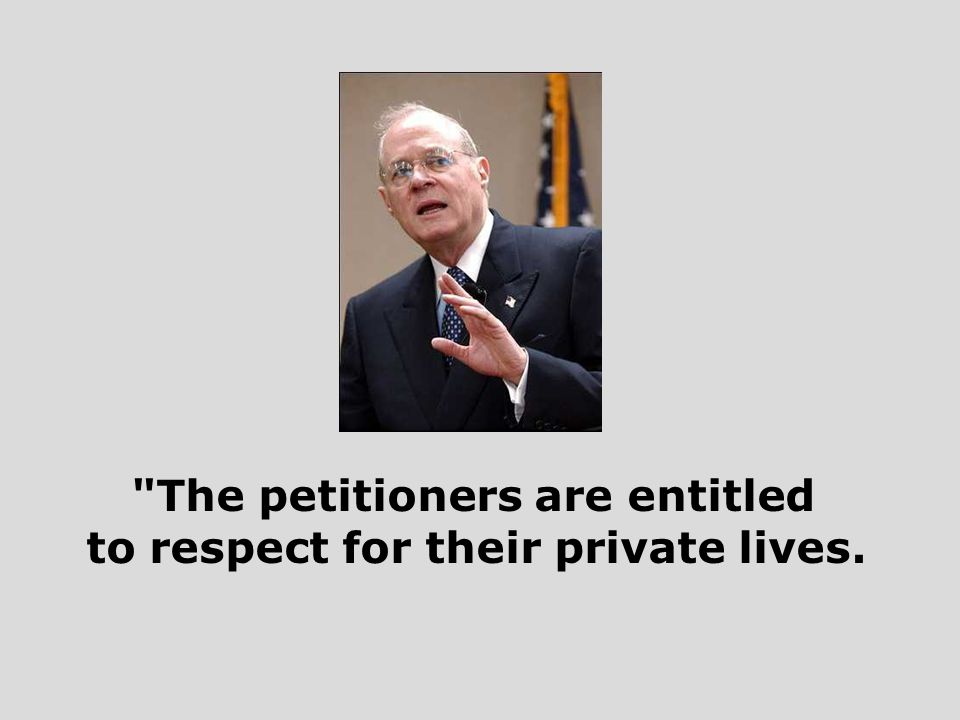 The petitioners are entitled to respect for their private lives.