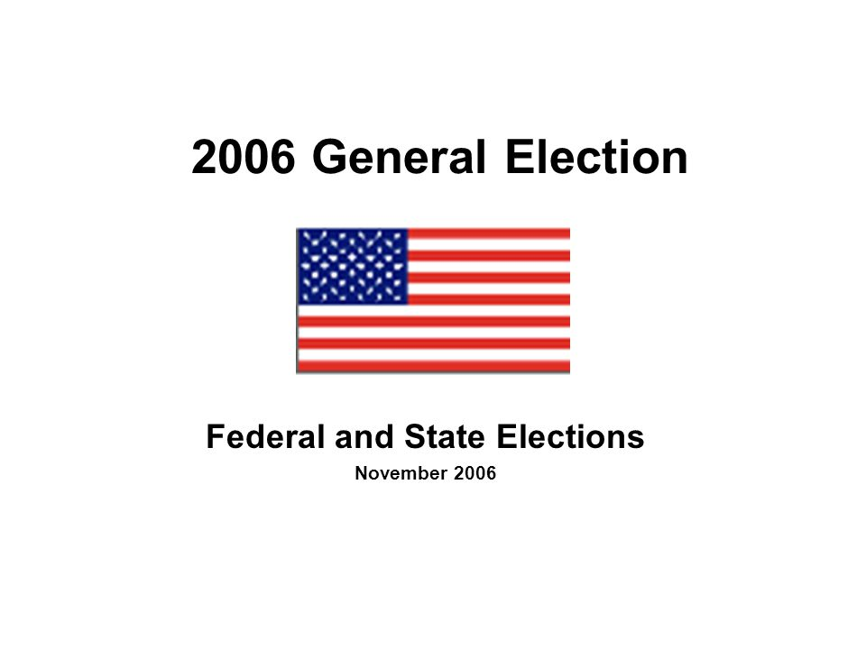 2006 Post-Election Governors Republican (22) Democrat (28)