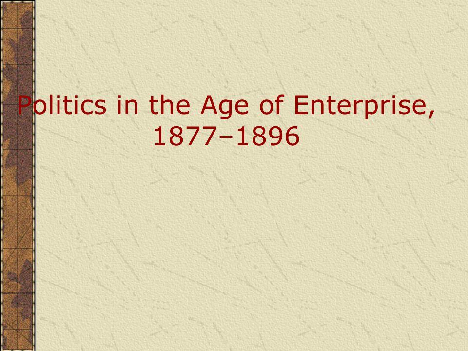 Politics in the Age of Enterprise, 1877–1896