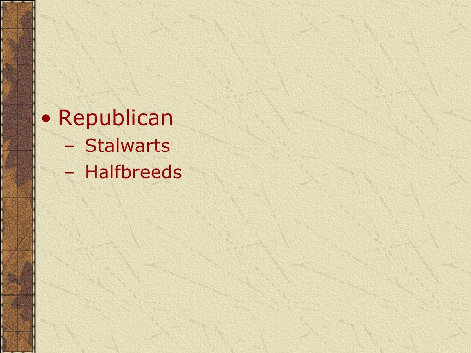 Republican – Stalwarts – Halfbreeds