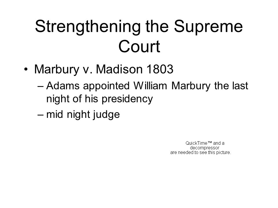 Strengthening the Supreme Court Marbury v.