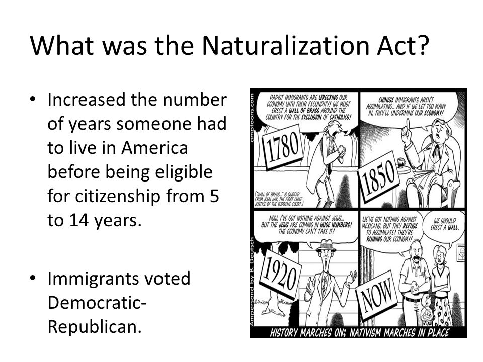 What was the Naturalization Act.