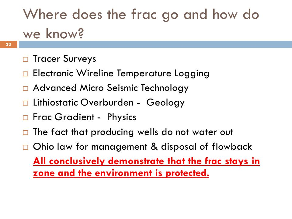 Where does the frac go and how do we know.